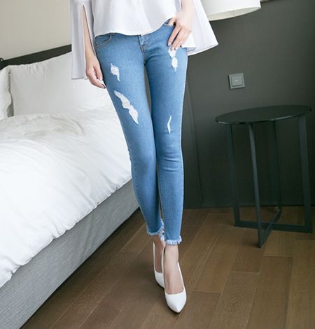954 워싱 skinny jeans (2color)